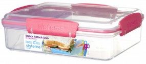 Sistema - Snack Attack Duo To Go - pink
