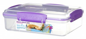 Sistema - Snack Attack Duo To Go - lila