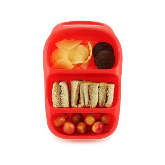goodbyn bynto rot lunchboxen mit unterteilung lunchboxen beh lter snacken lunchen. Black Bedroom Furniture Sets. Home Design Ideas