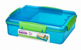 Sistema - Snack Attack Duo - Lunch -blau
