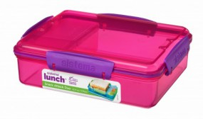 Sistema - Snack Attack Duo - Lunch - pink