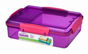 Sistema - Snack Attack Duo - Lunch -lila