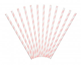 Sweetly Does It - Paper Straws - rosa