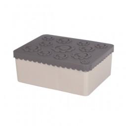 Lunchbox - Blumen - grau