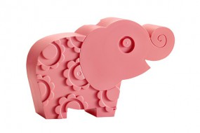 Lunchbox - Elefant - rosa