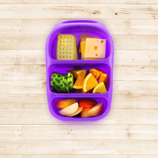 goodbyn bynto lila lunchboxen mit unterteilung lunchboxen beh lter snacken lunchen. Black Bedroom Furniture Sets. Home Design Ideas