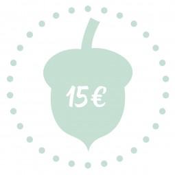 Geschenkgutschein - 15 €
