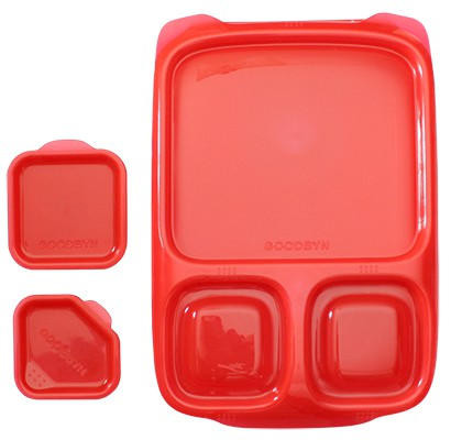 goodbyn hero rot lunchboxen mit unterteilung. Black Bedroom Furniture Sets. Home Design Ideas