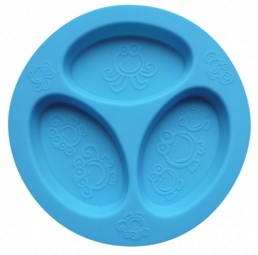oogaa - Divided Plate - blau