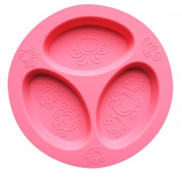 oogaa - Divided Plate - pink