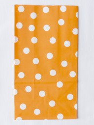 Blockbodenbeutel - L - orange gepunktet