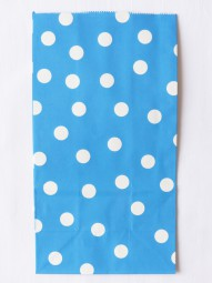 Blockbodenbeutel - L - blau gepunktet