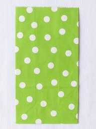 Blockbodenbeutel - L - grün gepunktet