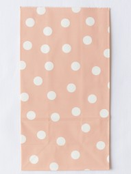 Blockbodenbeutel - L - rosa gepunktet