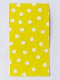 Blockbodenbeutel - L - gelb gepunktet