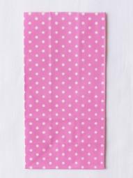 Blockbodenbeutel - M - pink gepunktet