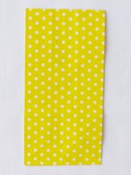 Blockbodenbeutel - M - gelb gepunktet