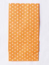 Blockbodenbeutel M -orange gepunktet