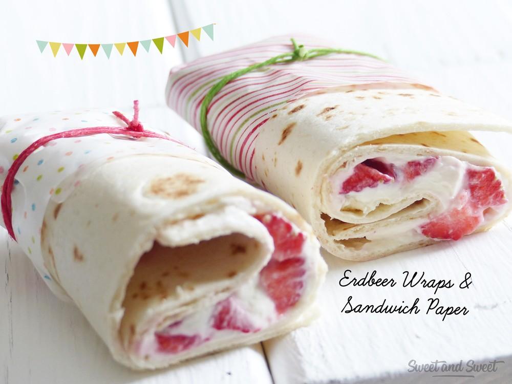 Erdbeer Wraps und Sandwich Paper