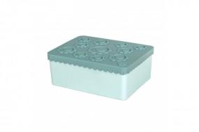 Lunchbox - Blumen - blau