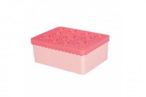 Lunchbox - Blumen - rosa