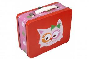 Lunchbox - Katze - rot