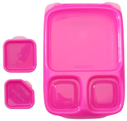 goodbyn hero pink lunchboxen mit unterteilung. Black Bedroom Furniture Sets. Home Design Ideas