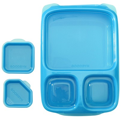 goodbyn hero blau lunchboxen mit unterteilung. Black Bedroom Furniture Sets. Home Design Ideas