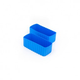 Little Lunch Box Co. - Silikonformen - Rectangle blau