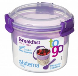 Sistema - Breakfast - to Go - lila
