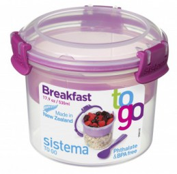 Sistema - Breakfast - to Go - pink