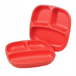 Re-Play - Unterteilter Teller - Red