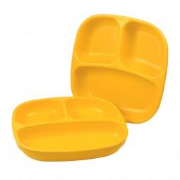 Re-Play - Unterteilter Teller - Sunny Yellow