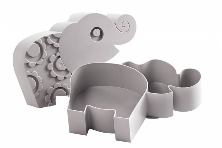lunchbox elefant grau schenken sweet and sweet. Black Bedroom Furniture Sets. Home Design Ideas