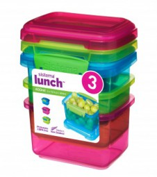 Sistema - Lunch Boxen Set - 3er, 400ml