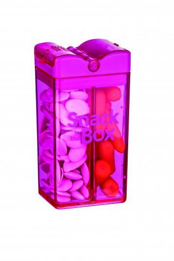 snack in the box pink lunchboxen mit unterteilung lunchboxen beh lter snacken. Black Bedroom Furniture Sets. Home Design Ideas